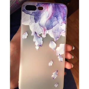 Accessories - iPhone Case 6-X Floral Soft Case PURPLE